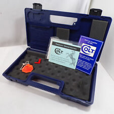 Colt Gun Blue Case w/Registration Papers Handgun Safety Large