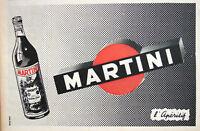 PUBLICITÉ DE PRESSE 1955 L'APÉRITIF MARTINI & ROSSI