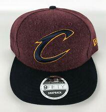Cleveland Cavaliers Baseball Snapback Hat New Era 9Fifty Low Profile Red Black