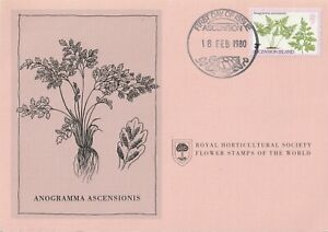 1980 Flower Stamps of the World Ascension Island