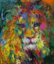 "$24k LeRoy Neiman ""Portrait of a Lion"" INVESTMENT SALE!!  OFFERS WELCOME!!"
