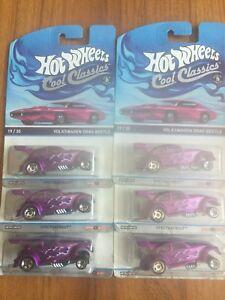 Brand New Hot Wheels Cool Classics Spectrafrost  Metal Volkswagen Drag Beetle