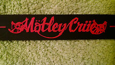 """MÖTLEY CRÜE 8 1/4"""" Silicone wristband with 2 Size (Large/Small) Metal Snaps"""