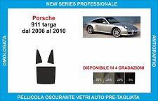 pellicole oscuranti vetri porsche 911 targa dal 2006-2010 kit posteriore