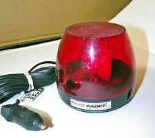 Whelen Responder Cadet CR-12 Roof Top Red Rotating Dome Beacon Light 12V Plug