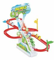 29 x 14 x 23 cm- Happy Dog Race Track Set with Music and Lights - Color May Vary