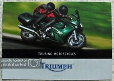 TRIUMPH TOURING MOTORCYCLES Sales Brochure 2001 #T3864628 TROPHY Tiger SPRINT +