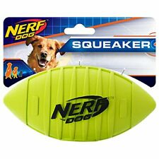 Nerf Dog Rubber Football Dog Toy with Squeaker Lightweight Durable and Water ...