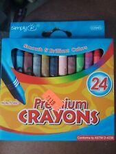 Simply A+ Premiun Crayons 24 count Non-toxic