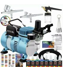 Master Airbrush Cool Runner II Dual Fan Air Compressor Professional Airbrushing