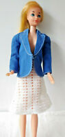 BARBIE DOLL OUTFIT VINTAGE - HANDMADE - SMART BUSINESS 2 PC