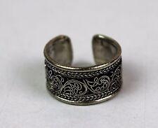 Tibetan Tribal Adjustable Ring Pewter Cuff Handmade Nepal Nepalese FairTrade