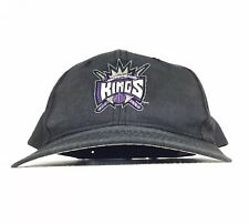 NBA Sacramento Kings Black Baseball Cap Hat SnapBack Men's Size - Faded