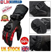 Leather Motorcycle Gloves Motorbike Waterproof Thermal Biker Windproof Winter UK