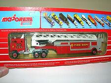 Majorette Series 600 1:87 HO Ford CLT 9000 FDNY FIRE LADDER TRUCK RARE FRANCE