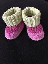 Babys Schuh gehäkelt Neu Größe ca 0-3 Monate