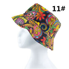 Womens Unisex Bucket Sun Hat Boonie Hunting Fishing Outdoor Cap Floral Summer 77