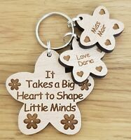 PERSONALISED THANK YOU CHRISTMAS  GIFT FOR TEACHER NURSERY SCHOOL GIFTS KEYRING
