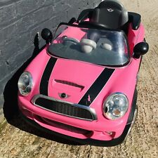 Pink Childrens Ride on Mini Cooper Electric Car Battery powered with charger