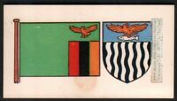 Flag And Standard - Banner For Zambia c50 Y/O Ad Trade Card