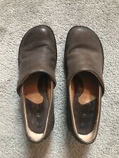 BOC Born Brown Leather Mule Slide On Loafer Shoe Womens Size 8