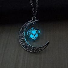 Crescent Sailor Moon Glow in The Dark Pendant Necklace Women's Jewelry Gift NEW!