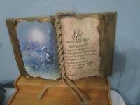 Vintage God Made Little Boys Poem & Picture Decorative Faux Book Signed