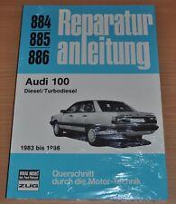 AUDI 100 Typ44 Turbo- Diesel 1983 - 1986 Handbuch Reparaturanleitung B884 OVP