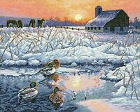 Dimensions Crafts The Gold Collection Counted Cross Stitch Kit, Winter Morning