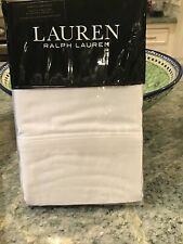 Ralph Lauren Dunham KING Sateen Pillowcases 300TC 100% Cotton White NWT
