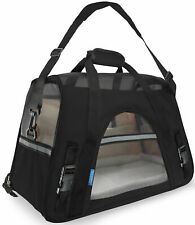 Pet Carrier Soft Sided Large Cat / Dog Comfort Black Travel Bag
