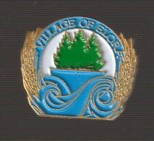 Village of Elora Ontario Metal Pin Pinback - Very Good