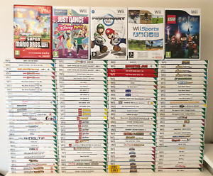 Nintendo Wii Games Kids Family Adult - Choose Your Game / Bundle Up Fast P&P