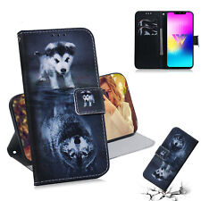 Cute Dog or Wolf Wallet Multi-function Leather cover Case skin for various phone