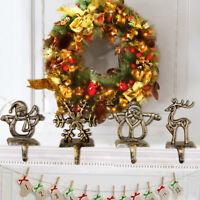 Vintage Christmas Stocking Hooks Hanger Holder Fireplace Santa Clips Decorations