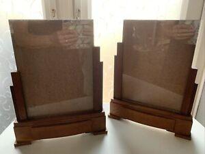 Pair Of Vintage Art Deco Picture Oak Frames. Height 33cm X 26cm.