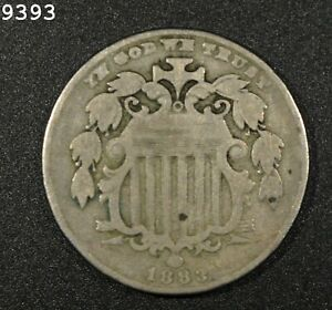 """1883 Shield Nickel """"VG+"""" *Free S/H After 1st Item*"""