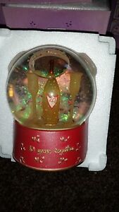 40 YEAR ANNIVERSARY TOGETHER  SNOW GLOBE  CHAMPAIGN AND GLASSES  BOXED NICE GIFT