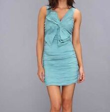 New with tag $408 BCBG Max Azria Woven Ruched Cocktail B1660  Dress Sz 12