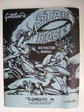 "Original Gottlieb ""Star Race"" Pinball Machine Instruction Manual"