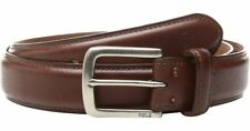 Polo Ralph Lauren Mens Brown Suffield Pony Logo Vachetta Leather Silver Belt