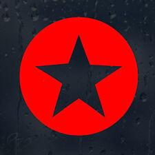 Estrella roja coche decal Vinilo Adhesivo Para Ventana O Panel o parachoques