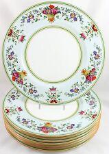 SET 8 DINNER PLATES WEDGWOOD BONE CHINA KILLARNEY W1685 GREEN YELLOW BLUE ENAMEL