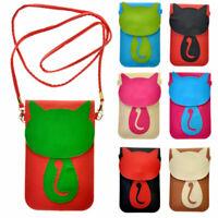 New Women Cute Cat Girl Shoulder Tote Crossbody Mini Bag Phone Bag Handbags