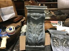 """Early 20th century Inc building facade acanthus leaf design element 20"""" x 10.25"""""""