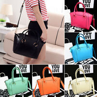 Women's Ladies Tote Bag Faux Leather Style Large Shoulder Handbags Purse 6 Color