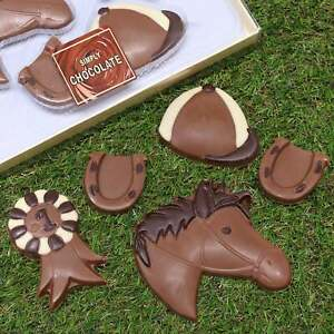 Friars Novelty Chocolate Horse Riding Gift Set For Girls Pony Farm Show Jumping