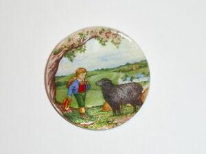 "Baa Baa Black Sheep & Boy Button - Mother of Pearl MOP Shank Button 1+3/8"""