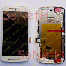 "Touch screen + LCD Display + Frame Motorola Moto G G2 XT1064 2nd Gen 5,0"" Bianco"