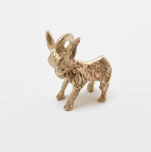 Donkey Mule Burro Solid Sterling Silver Bracelet Charm Democrat
